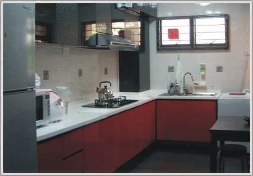 Desain Dapur Merah Hitam  wow dapur tampak mewah hanya dengan aksen merah edupaint