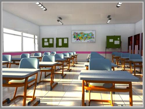 Desain Warna Untuk Ruang Kelas Sekolah Menengah