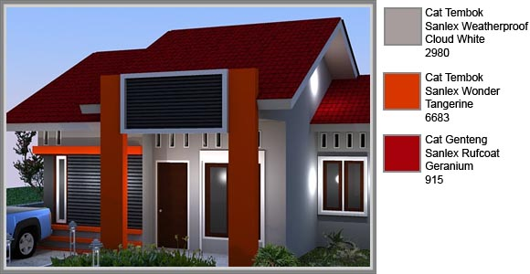 Aksen Warna Cerah Untuk Fasade Rumah Minimalis Edupaint