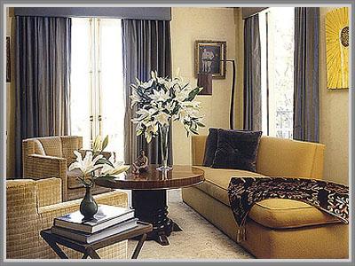 Krem Berpadu Lat Di Ruang Tamu Bera Art Deco