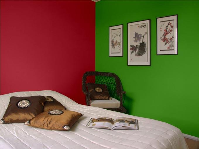 Kombinasi Warna Cat Rumah Hijau Dan Kuning  menata kamar tidur dengan skema warna komplementer edupaint