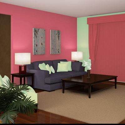 97 Desain Ruang Tamu Warna Pink