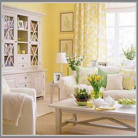 Kuning Di Ruang Tamu Shabby Chic Yang Menarik Edupaint