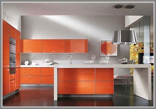 Tampil Menarik Di Dapur Warna Oranye