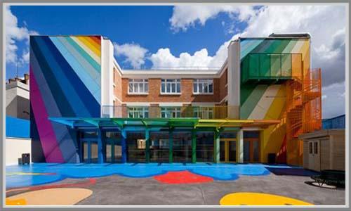 Fasade Sekolah Warna Warni Menyenangkan Edupaint