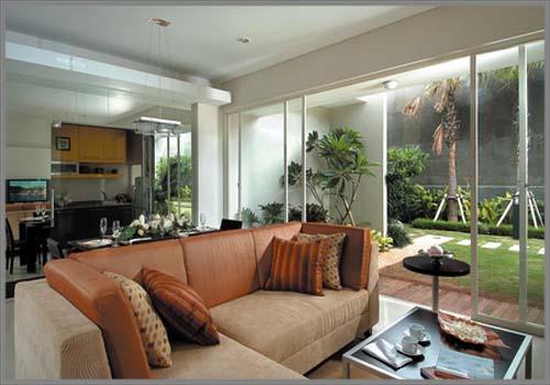 Desain Ruang Keluarga Berkonsep Alam