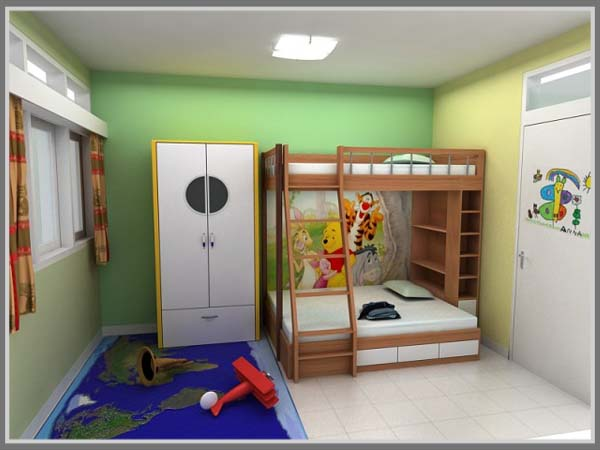 desain nyaman di kamar tidur anak
