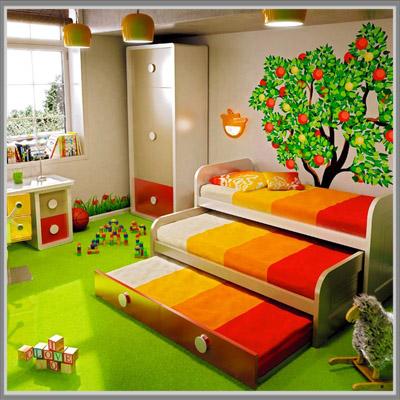 inspirasi warna-warna di ruang bermain anak - edupaint