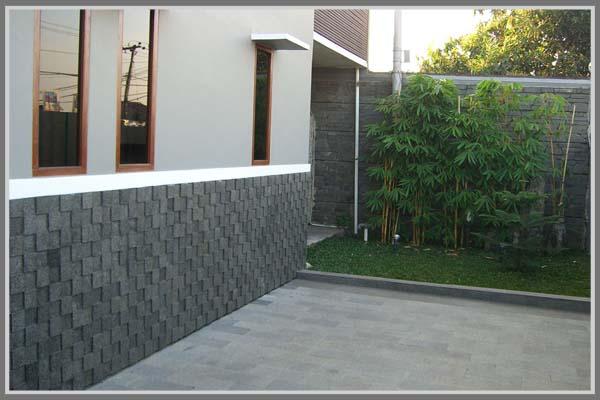 Variasi Material Batu Alam Untuk Dinding Rumah Minimalis