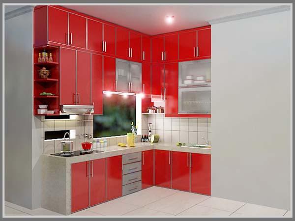 Merah Di Dapur Dengan Paduan Warna Putih