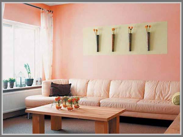 warna pastel di ruang tamu