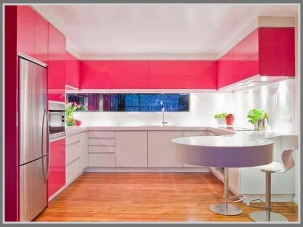 Pink Untuk Desain Dapur Yang Menarik