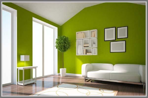 Kombinasi Warna Cat Rumah Kayu  warna hijau pada interior rumah edupaint