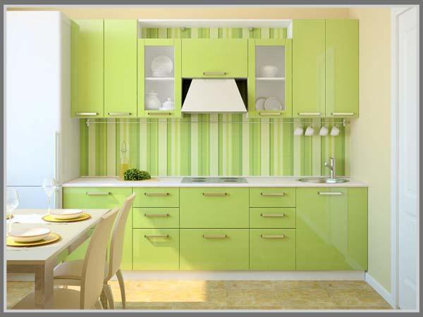 Tampilkan Nuansa Kesegaran Dengan Balutan Hijau Di Dapur