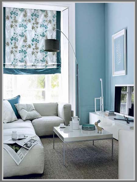 Ruang Tamu Warna Biru