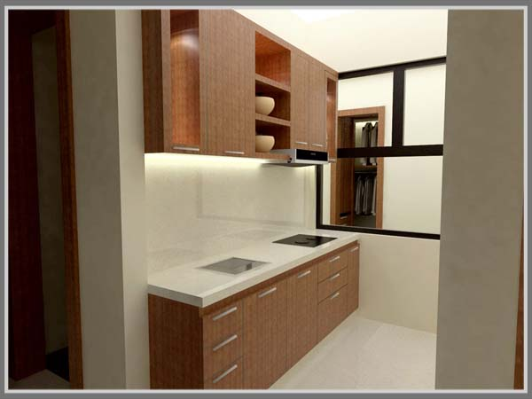 Nyamanya Dapur Dengan Paduan Warna Putih Dan Coklat Edupaint