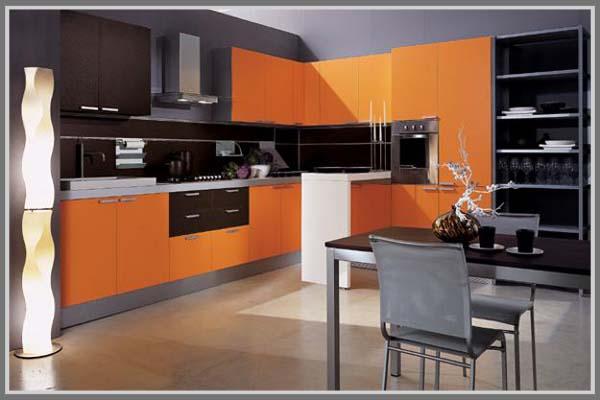 paduan warna oranye untuk interior rumah