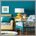 Interior cat warna biru