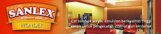 Cat Tembok Sanlex Wonder