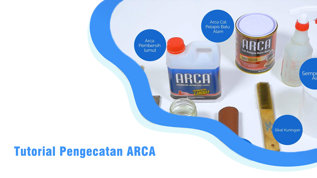 Tutorial Pengecatan Cat Batu Alam ARCA Series