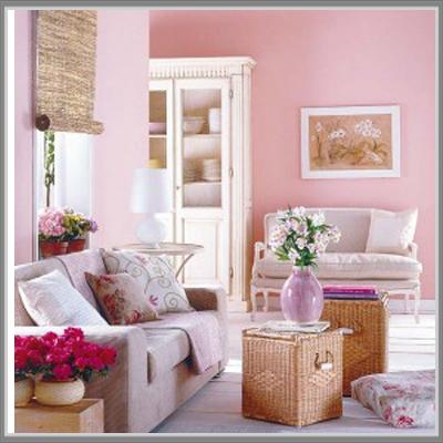Hah Ruang Tamu Warna Soft Pink Yang Manis