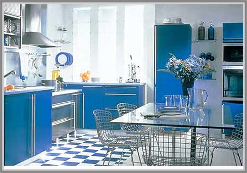 Biru Untuk Kesan Dapur Yang Segar Dan Menenangkan