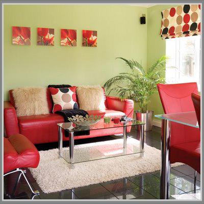 Ruang Tamu Hijau Merah Yang Memikat Di Rumah Anda