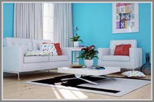 Segarkan Suasana Ruang Tamu Dengan Balutan Warna Biru Muda