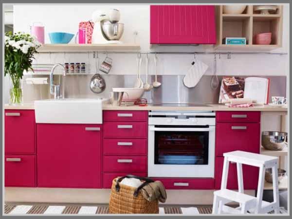 Manisnya Dapur Dengan Balutan Warna Pink