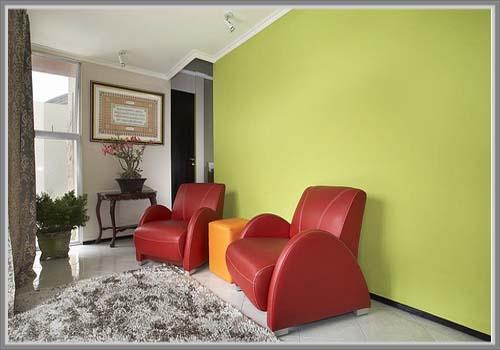 Kombinasi Warna Merah Dan Hijau Untuk Ruang Tamu Yang Menyenangkan