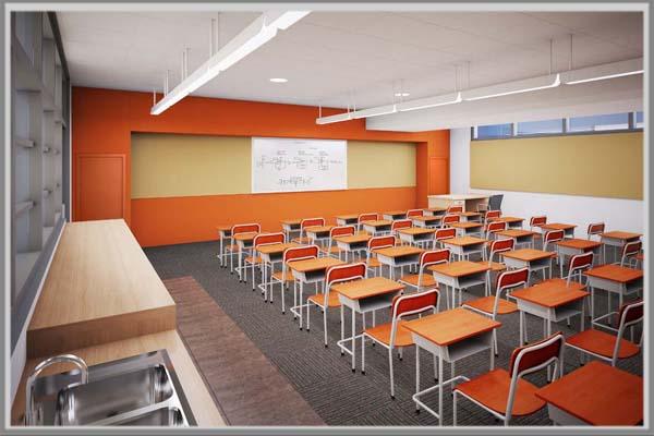 Warna Oranye Juga Bisa Menjadi Yang Pas Digunakan Untuk Meningkatkan Kesan Semangat Dan Mendorong Konsentrasi Pada Saat Berada Di Ruang Kelas