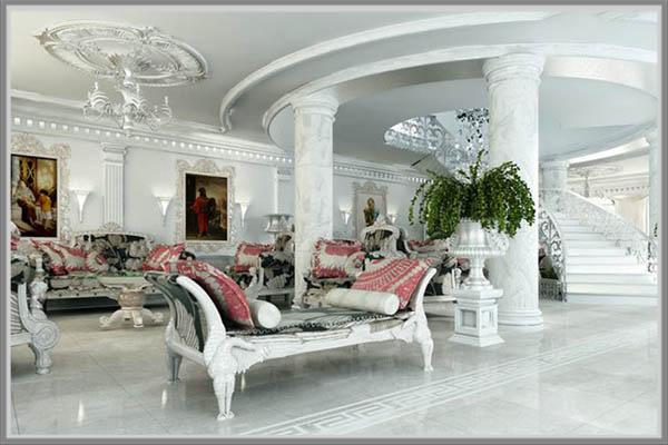Anda Bisa Pilih Misalnya Tampilan Ruang Keluarga Mewah Nan Elegan Lewat Desain Klasik Eropa Balutkan Dinding Dengan Cat Warna