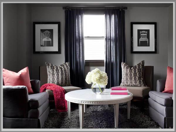 Nyamankan Ruang Tamu Dengan Warna Abu