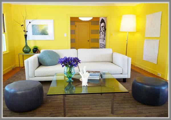 Kuning Menarik Di Ruang Tamu Minimalis Eint