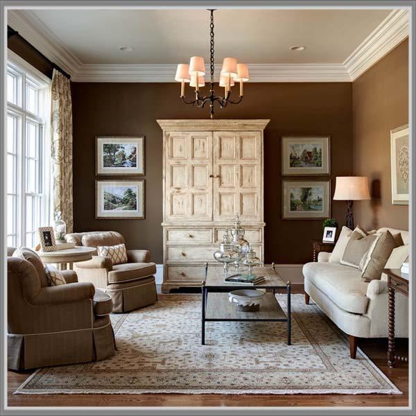 Ruang Tamu Warna Gold | Desainrumahid.com