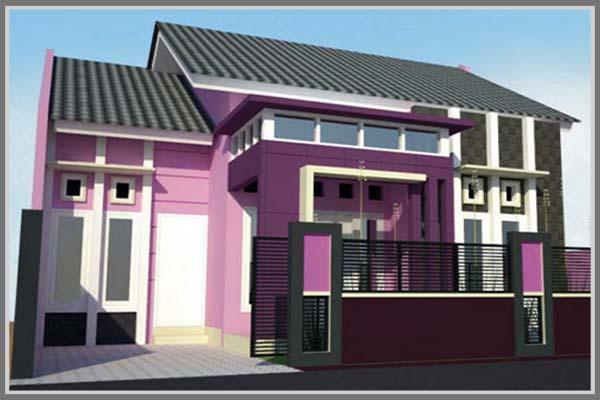 Kesan Warna Ungu Untuk Desain Fasade Edupaint
