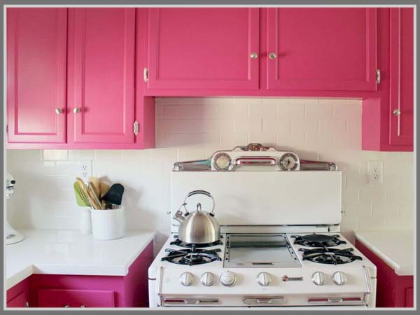Beberapa Desain Dapur Dengan Warna Pink Berikut Pastinya Akan Membuat Anda Merasa Terkesan Dan Tertarik