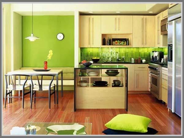 Desain Multifungsi Dengan Menggabungkan Dapur Dan Ruang Makan