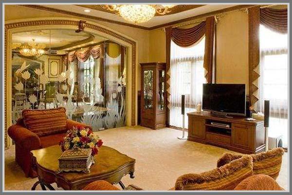 Ruang Keluarga Mewah Yang Menyenangkan
