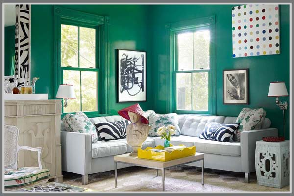 Kesan Tentram Di Ruang Tamu Dengan Warna Hijau Pastel
