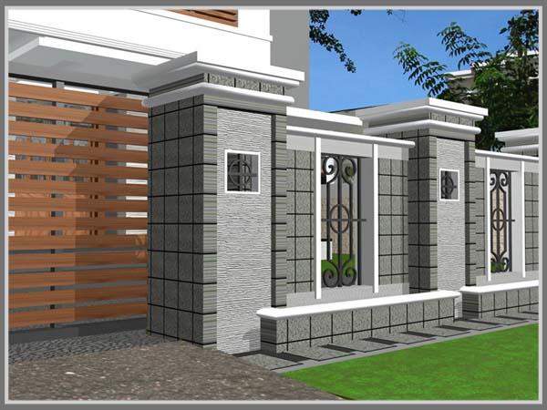 Pagar Tembok Lengkapi Tampilan Rumah Edupaint