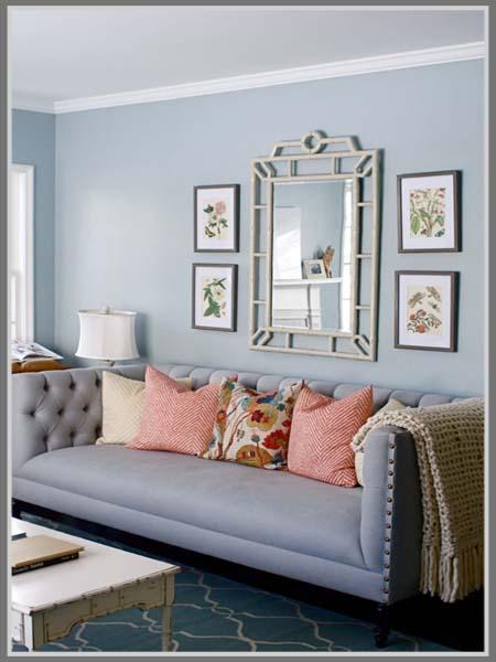 Ruang Tamu Dengan Paduan Warna Pastel