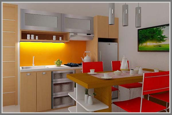 Kombinasi Warna Untuk Kesan Dapur Yang Menarik