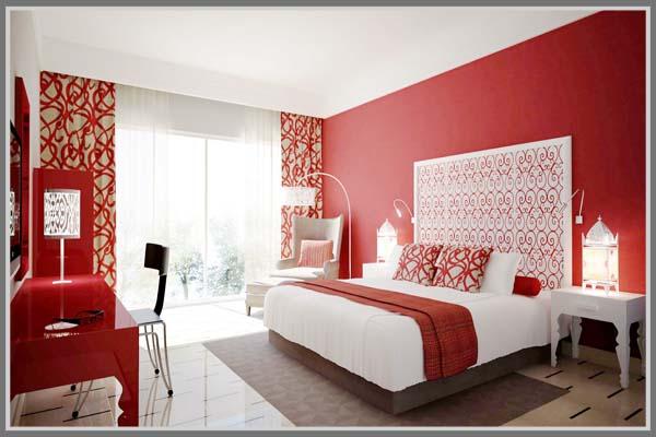 Menarik Di R Tidur Dengan Aksen Merah