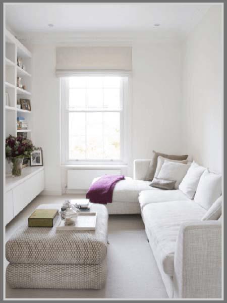 Putih Terkesan Bersih Di Ruang Tamu Minimalis