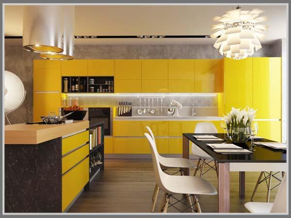Warna Kuning Untuk Menciptakan Dapur Yang Menarik