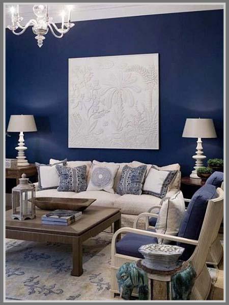 Ciptakan Suasana Baru Di Ruang Tamu Dengan Warna Biru