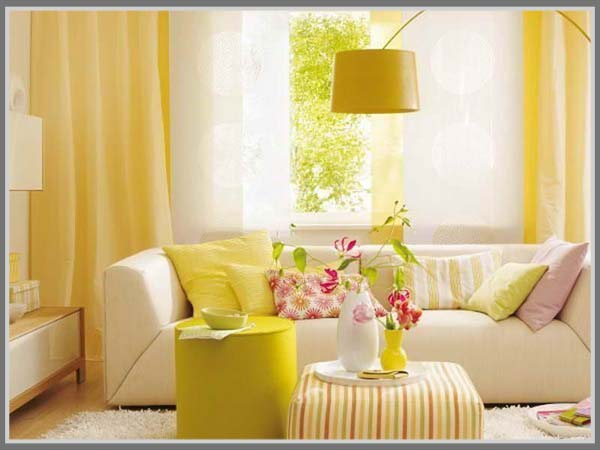 Ruang Tamu Warna Kuning