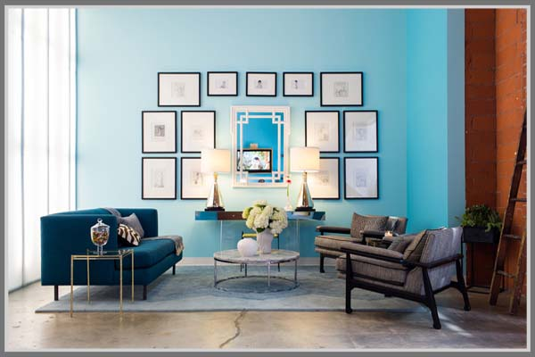 Ruang Tamu Warna Biru Muda Dan Tua