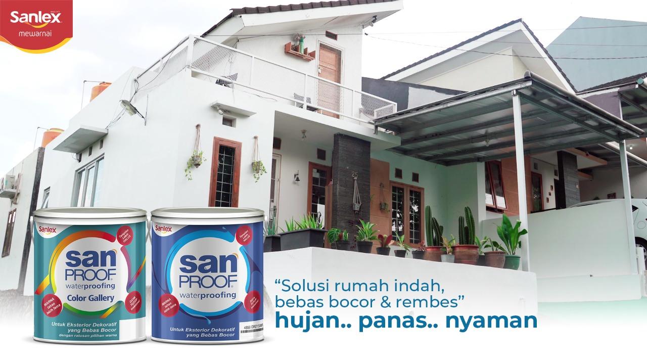 Solusi Rumah Indah, Bebas Bocor dan Rembes dengan Sanproof Waterproofing